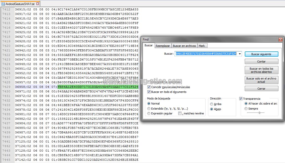 Hackear patrón de desbloqueo en Android