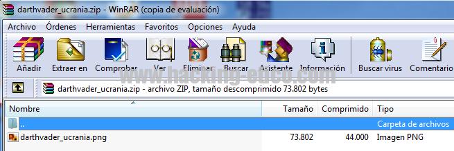 WinRAR - Spoofing de extensión