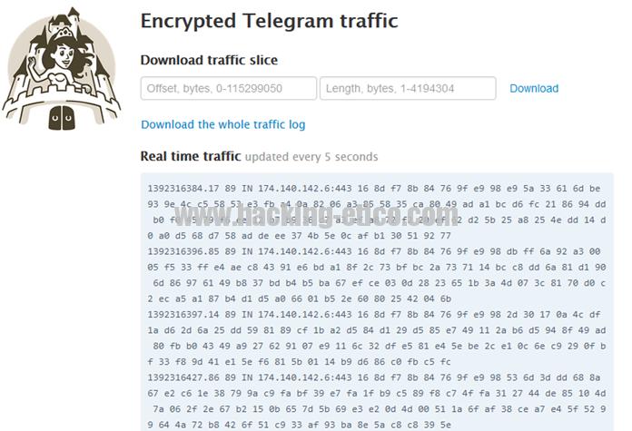 Telegram - MTProto log file