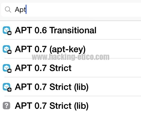 Cydia - APT 0.7