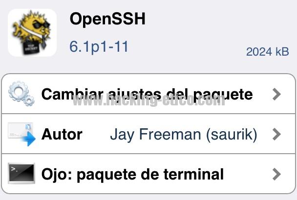 OpenSSH - Cydia