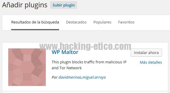 WP Maltor - Plugin de seguridad para WordPress