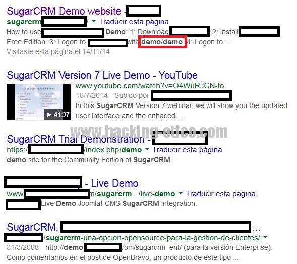 Exploit para SugarCRM y sus demos - Hacking Ético